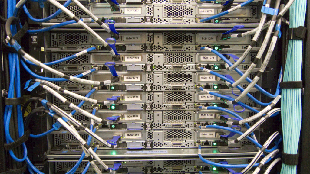 Network Rack of Servers
